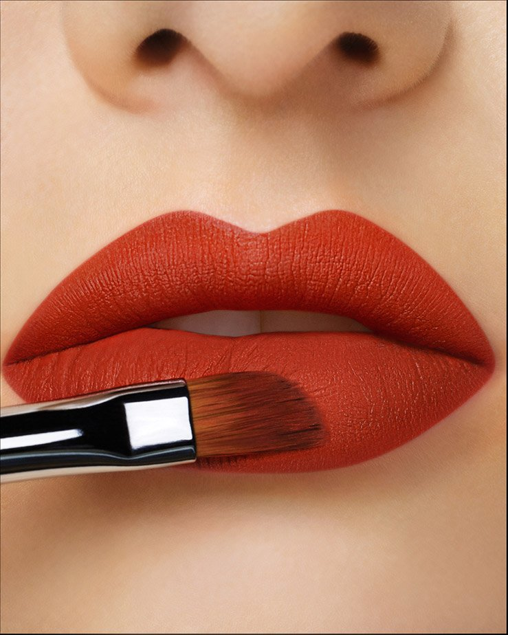 move to the other side to complete lip look.